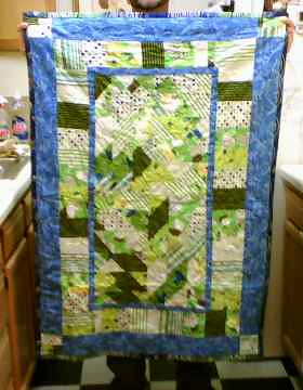 1st pieced quilt front