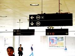 Gare Du Nord - Metro RER Wayfinding (brunoboris) Tags: paris airport metro signage billet wayfinding rer thisway hangingsignage