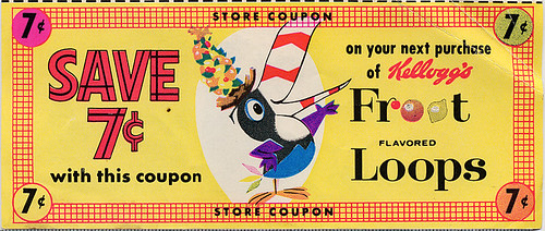 Fruit Loops Coupon, 1964