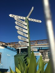 The only road sign in Tuvalu!