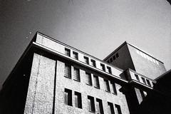 Volksbühne (Lup0s) Tags: nikonl35af nikon blackandwhite analog fujineopan1600 pull1000 trip architecture berlin volksbühne
