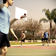 Shirts v Skins (briancweed) Tags: life california people me sports basketball square la losangeles multiplicity socal clones selfportait burbank