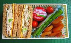 Sandwich and asparagus lunch for toddlers