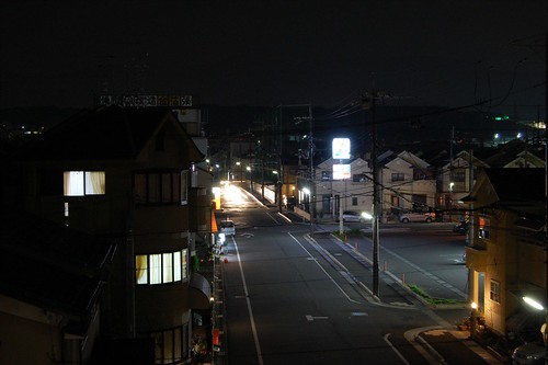 Vue d'en face, la nuit