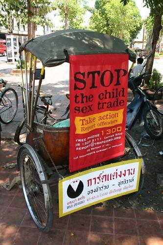 Tuktuk poster in Chiang Mai...