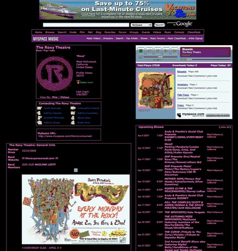 www.myspace.com/theroxyonsunset