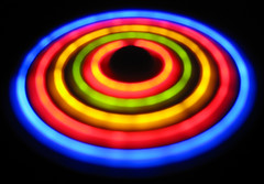UFO (Kirpernicus) Tags: light color colour reflection colors dark fun lights fan cool colorful glow play bright maya ufo trippy psychedelic eyecandy bold interestingness470 i500 impressedbeauty explore13april2007