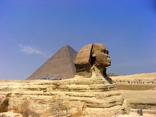 Egipte-Piràmides de Giza-Keops i Esfinx por orgu24.