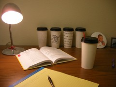 desk (hypnoughtik) Tags: art gabriel coffee photography office shot desk gabe cups math mathematics homework amos