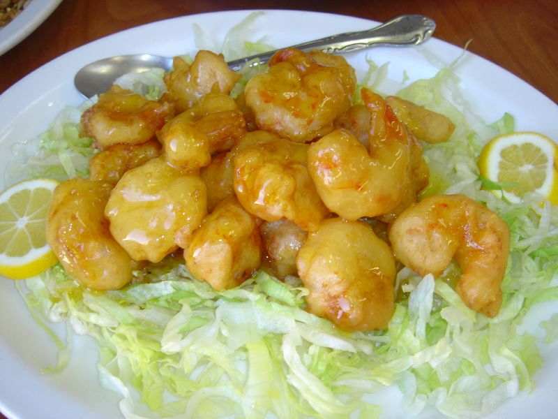 Lemon Prawns and Scallops