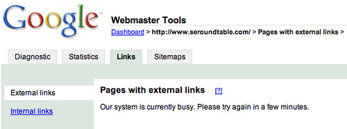 Google Links Tool Down
