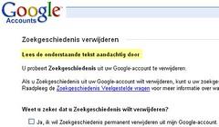 Google zoekgeschiedenis verwijderen
