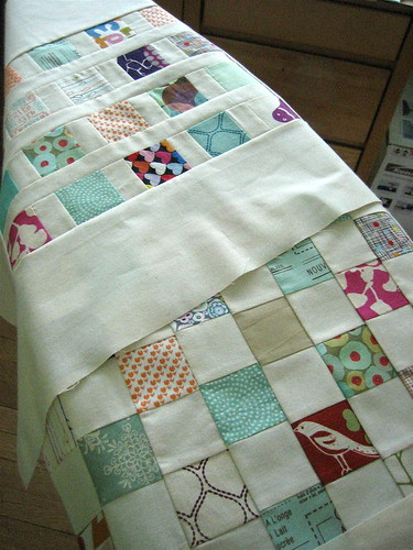 doll quilt swap - #1 and #2 on ironing board