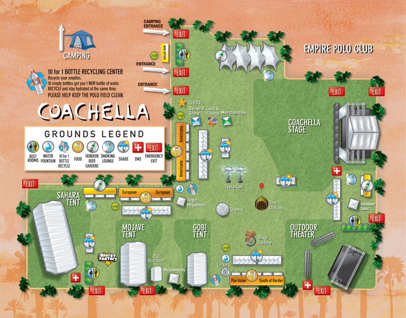 Coachella 2007 Festival Grounds Map