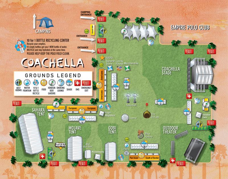 Coachella 2007 Festival Grounds Map