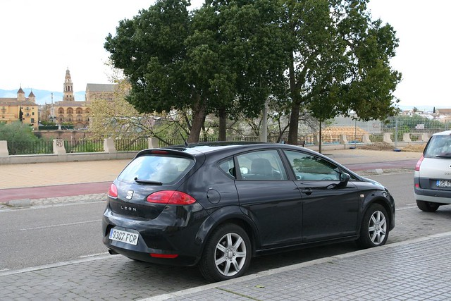 our rental car and the mezquita