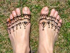 Hennaed Feet