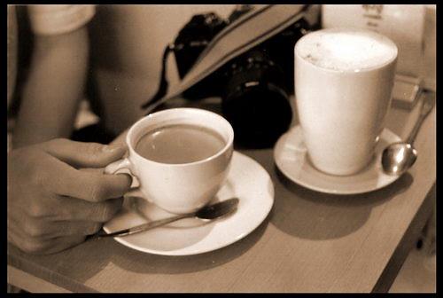 กาแฟจากเครื่องเอสเพรสโซ มากับฟองนม