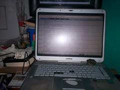 My laptop on my desk