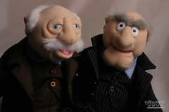 Grumpy old men. (The Ziegelofen | Michael Holly) Tags: show old portrait men classic toy tv comedy doll play puppet famous statler waldorf muppetshow jimhenson frankoz grumpyoldmen