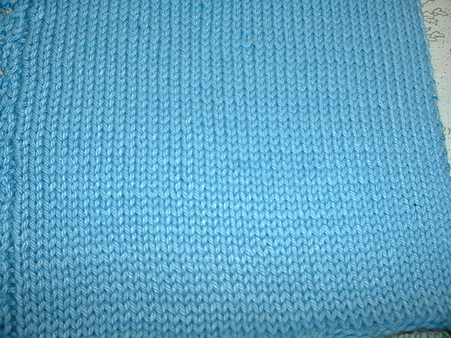 Blue knit stitches