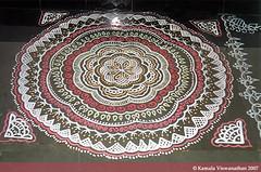 Round-shaped Kolam (Kamalakolam) Tags: flowers wedding flower color colour art floral festival temple design culture marriage hobby colourful tradition interest kolam rangoli kamala