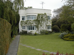 Domestic Moderne 9 (FrMark) Tags: uk windows england house home century corner garden flat britain lawn cream moderne lincolnshire domestic gb british c20 curved deco 20th modernist streamline spalding twentieth flatroof