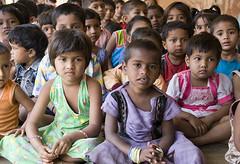 Younger school children, Ganeshpuri (Dey) Tags: school india children primaryschool assembly schoolvisit ganeshpuri shivaashram