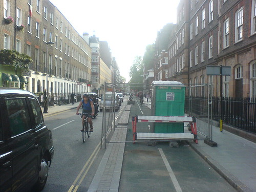 Toilet blocking cycle lane