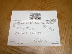 eyeglasses prescription