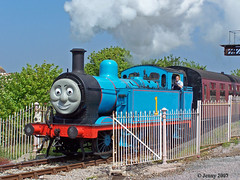 There he goes... (welshlady) Tags: station train memorial thomas engine railway 100views bandstand steamengine thomasthetankengine barryisland standingovation helluva captainscott nellspoint welshlady theworldthroughmyeyes mywinner welshflickrcymru