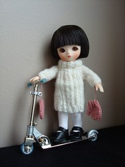 Aiko with a Scooter