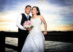 Aldner & Michelle (Ryan Macalandag) Tags: wedding sunset portraits outdoor michelle portraiture weddings strobist aldner ryanmacalandag