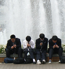 Disinterest (amirjina) Tags: students mobile japan message phone friendship cell boredom panasonic communication amir  keitai uniforms yokohama vis jina disinterest fz7 spselection amirjina
