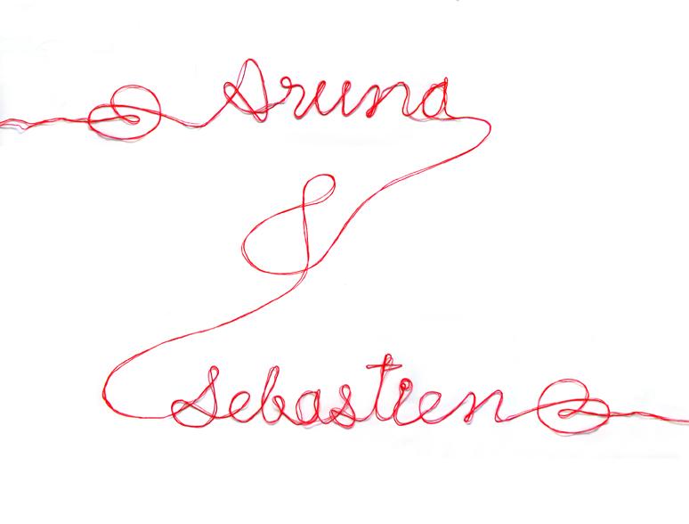 Aruna & Sebastien typo
