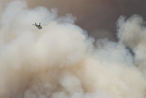 Helicopter going to the fire