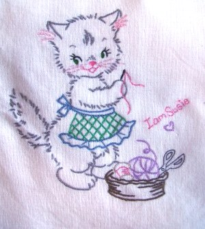 Tea Towel Swap Kitty