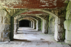 Interior of Fort Popham