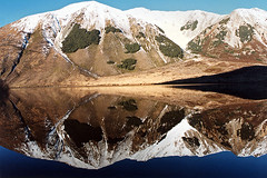 Pearson (Daniel Murray (southnz)) Tags: newzealand mountain lake reflection landscape scenery wildlife nz southisland pearson refuge southnz eos50escanfromprint