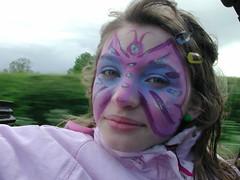 face paint (forbidden-donut) Tags: show flowers dog face car butterfly paint purple favorites popular ih laurasphotos wowiekazowie forbiddendonutsbestphotos