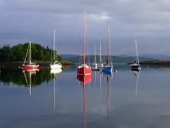 "Dunstaffnage reflections 3.JPG (nz_willowherb) Tags: west island see coast scotland boat sailing tour vessel visit jura oban 2007 gigha to"" ""go"