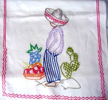 Mexican Boy Embroidery