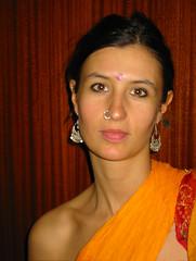 Carnevale (franny2007) Tags: me costume moi io francesca occhi carnevale arancio bocca primopiano naso capelli profilo collana spalla orecchini i