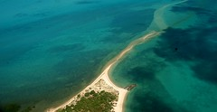 Wednesday Island Sand spit from the air.