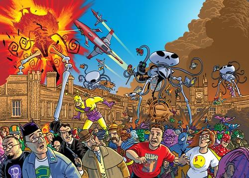Dibujo de varios comics