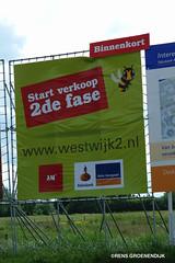 bouwbord nieuwbouwwijk te Amstelveen