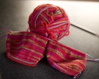 Ravelry: Two Toe-Up Socks on One Circular Needle pattern ...