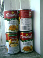 Trying for the Warhol look (Yakima_gulag) Tags: andy warhol tribute cans soupcans andywannabe