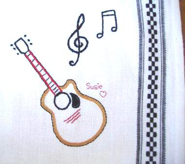 Tea Towel Guitar 001
