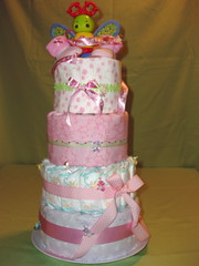 Diaper cake 1 (Dougie_G.) Tags: baby cake toys hawaii ribbons crafts nappy gift blankets diapers babyshower receiving diapercake nappycake